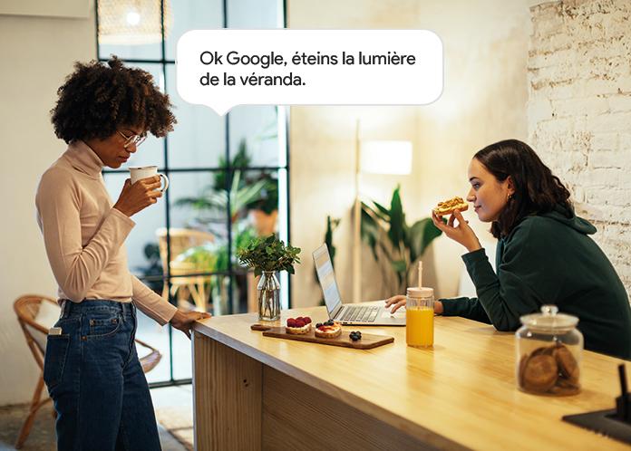 Avec Google Home gérez vos éclairages connectés Delta Dore.