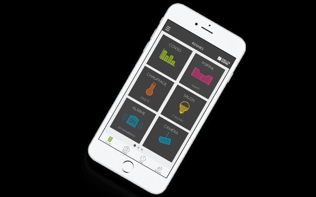 Home page app verbonden huis Tydom