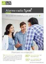 Couverture brochure alarme Tyxal+