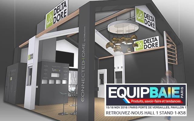 Stand Delta Dore au salon Equipbaie 2016